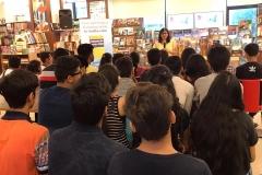 Speaking at Title Waves, Bandra Mumbai